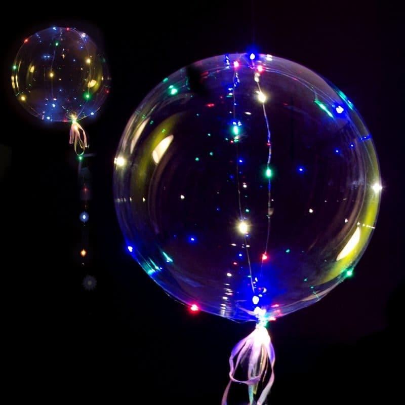 Imagen de Globo latex grande con luces Descripcion: Globo de latex grande con luces sin helio con palito
